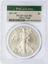 2017-(P) ASE Gem BU PCGS Struck at Philadelphia green label