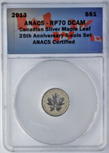 2013 $1 Canada ML RP70 ANACS 25th Anniv.  single piece