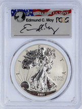 2011-P Silver Eagle Reverse Proof PR70 PCGS 25th Anniversary Set First Strike Moy