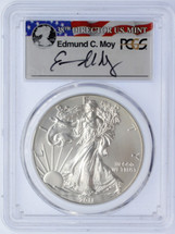2011-W Burnished Silver Eagle SP70 PCGS 25th Anniv Set Moy