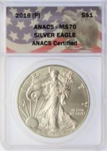 2016 (P) $1 Silver Eagle MS70 Struck at PHILADELPHIA MINT Anacs