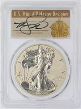 2006-P $1 Reverse Proof Silver Eagle PR70 PCGS 20th Anniversary Thomas Cleveland Art Deco