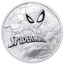 2017 Silver $1 TUVALU Spiderman BU