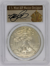 2011-W Burnished Silver EagleSP70 PCGS First Strike T Cleveland Art Deco