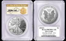 2018-S $1 Proof Silver Eagle PR70 PCGS FDOI - ANA SHOW Cleveland Art Deco *POP 150*