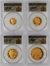 2008-W Proof Gold Buffalo 4-Coin Set ($5, 10, 25, 50) PR70 PCGS T. Cleveland Art Deco