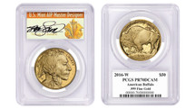 2016-W $50 Proof Gold Buffalo PR70 PCGS Thomas Cleveland Art Deco