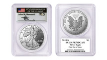2018-S Proof Silver Eagle PR70 PCGS FDOI Mercanti