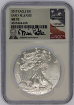 2017 Silver Eagle MS70 NGC Early Releases Mike Castle