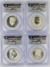 2014-W 50C Silver Kennedy 4-Coin set MS/SP/PR/Rev PR70 PCGS 50th Anniv First Strike Moy