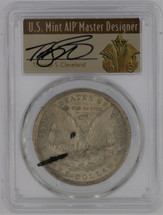 1921 Morgan Dollar AU53 PCGS Mint Error Rev Laminated Plan T. Cleveland Art Deco