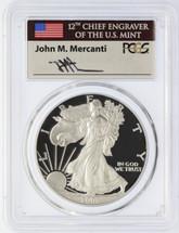 2001-W Silver Eagle PR 70 DCAM PCGS Mercanti Signed - Price Guide $800