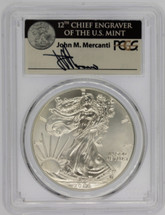 2017 $1 Silver Eagle MS70 1 of 1000 PCGS John Mercanti ASE label