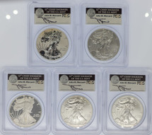 2011 25th Anniversary Set 70 Mercanti Signed PCGS First Strike ASE label