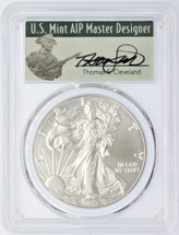 2017-W Burnished Silver Eagle SP70 PCGS 225th Anniv US Mint D.C. Mint T.Cleveland Signed