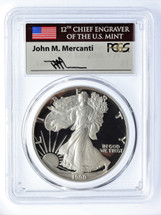 1990-S Proof ASE PR70 PCGS Flag Mercanti signed