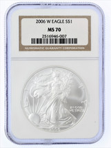 2006 W ASE MS70 NGC brown label