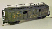 Built up kit (3062) with roof walk railing and end ladders added