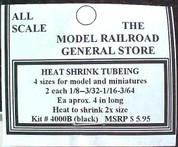 S Sn3 Heat Shrink mini Tubing for model wiring Black4sz