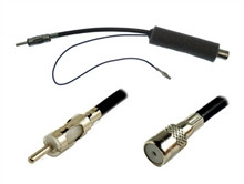 ISO to DIN Antenna Adapter Lead with 12v Power Feed