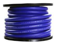 Hollywood OFC 0 AWG POWER CABLE - Blue