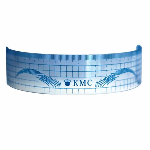 Reusable eyebrow measuring ruler