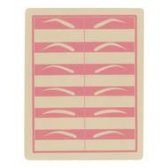 Pink eyebrow practice pad