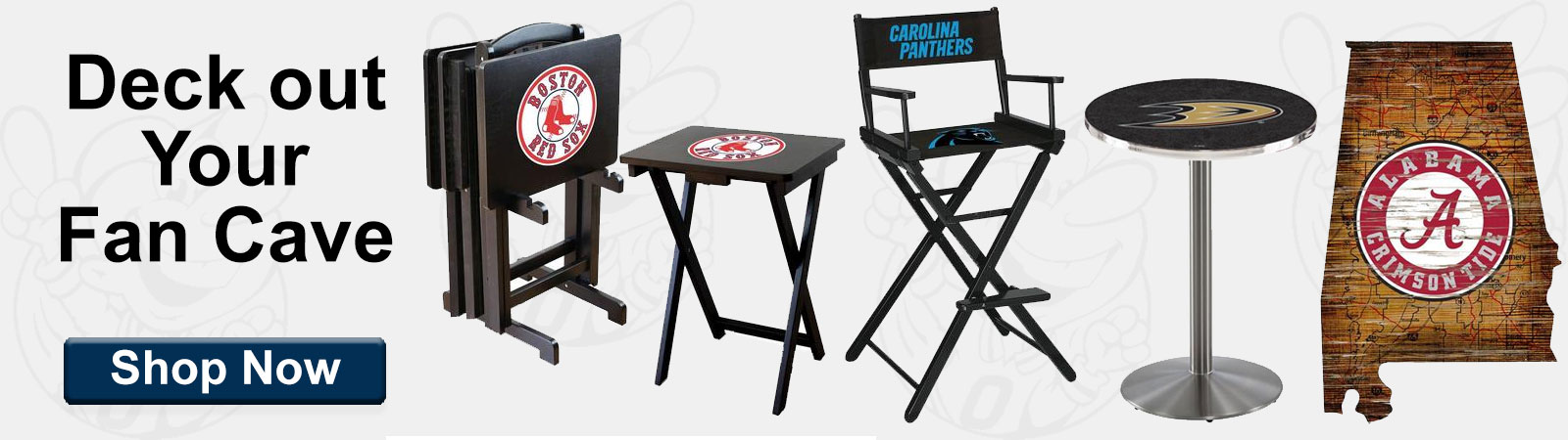 Deck out your fancave with your favorite team's memorabilia!