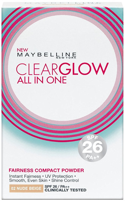 Maybelline Clear Glow All In One Fairness Compact Powder Nude Beige 02  Best Price