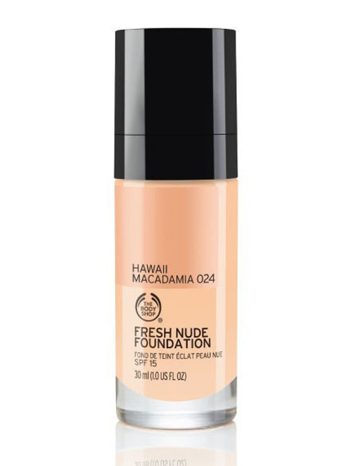 The Body Shop Fresh Nude Foundation Hawaii Macadamia 024  Buy online in Pakistan  best price  original product