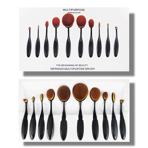 Multipurpose Makeup Brush 10 Pieces Set best price