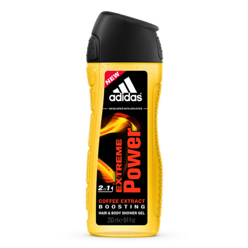 Adidas Men's Extreme Power Coffee Bean Extract Hair & Body Shower Gel 250 ML
