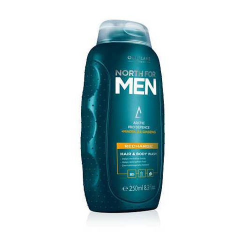 Oriflame North For Men Recharge Hair & Body Wash 250ML Buy online in Pakistan best price original product