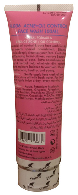 Fiabila Acne & Oil Control Face Wash Original Product