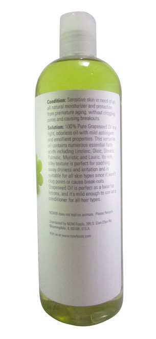 GNC Now Grapeseed Oil 473 ML(Side)