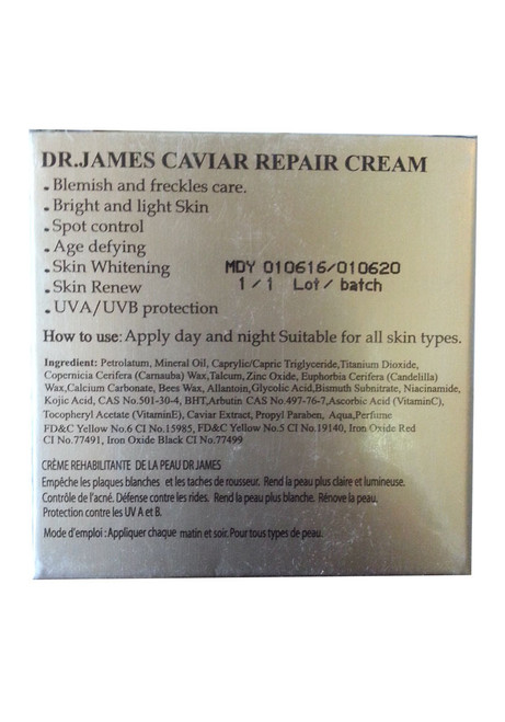 Dr.James Caviar Repair Cream best price original product
