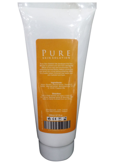 Pure Skin Solution Whitening Sun Blocker With SPF 30 Back