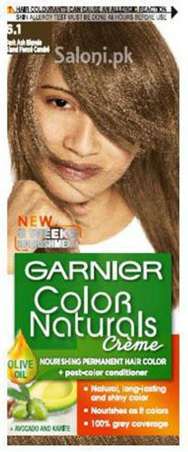 Garnier Color Naturals Creme 6.1 Dark Ash Blonde