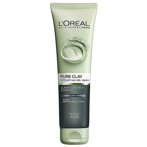 L'oreal Paris Pure Clay Charcoal Detoxifying Face Wash- Black 150ML buy online in Pakistan