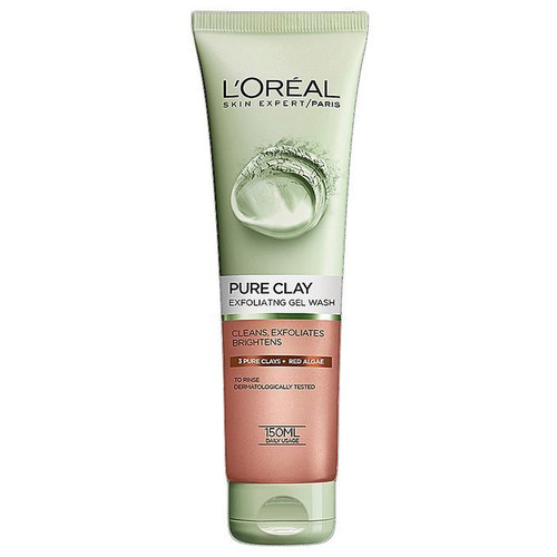 L'oreal Paris Pure Clay Red Algae Exfoliating Face Wash-Red 150ML buy online in Pakistan