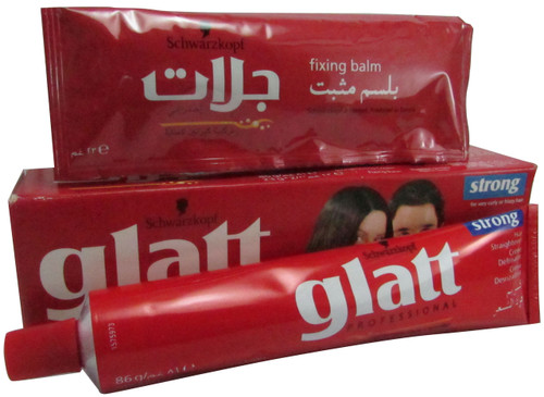 Schwarzkopf Glatt Professional Hair Straightener Cream with Fixing Balm