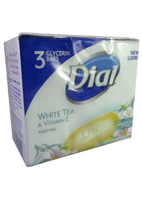 Dial White Tea & Vitamine E Bar Soap (Pack of 3)
