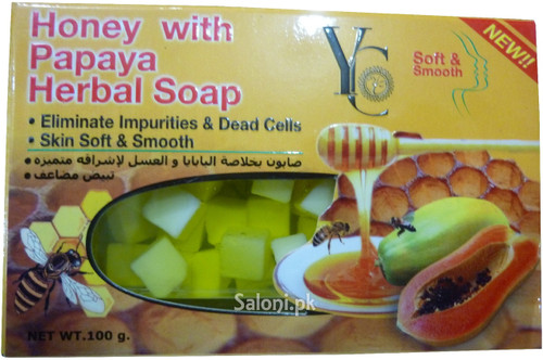 YC Honey with Papaya Herbal Soap 100 Grams