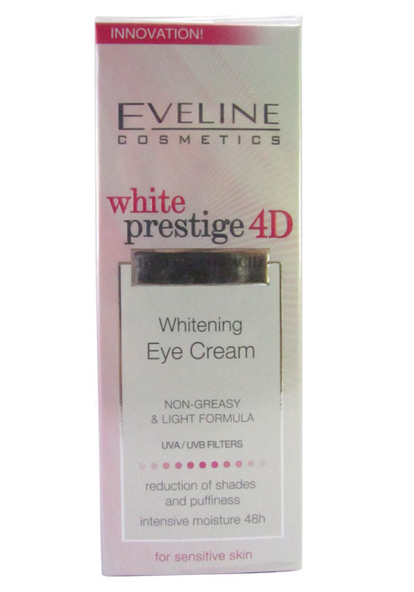 Eveline White Prestige 4D Whitening Eye Cream UVA/UVB Filters 15 ML shop online in Pakistan best price