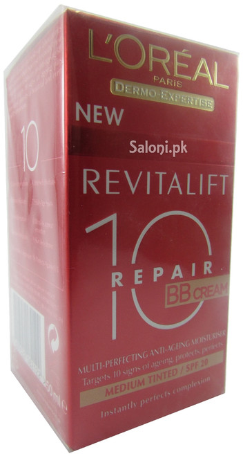 L'oreal Paris RevitaLift Total Repair 10 BB Cream Medium Tinted SPF 20 Front