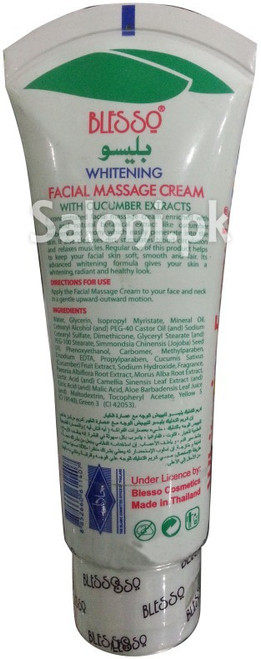 Blesso Whitening Facial Massage Cream with Cucumber Extracts