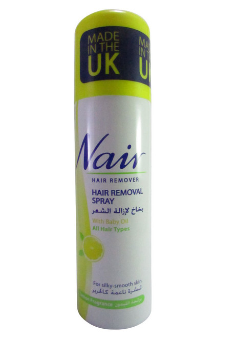Nair Hair Removal Spray With Baby Oil For Lemon Fragrance Shop online in Pakistan