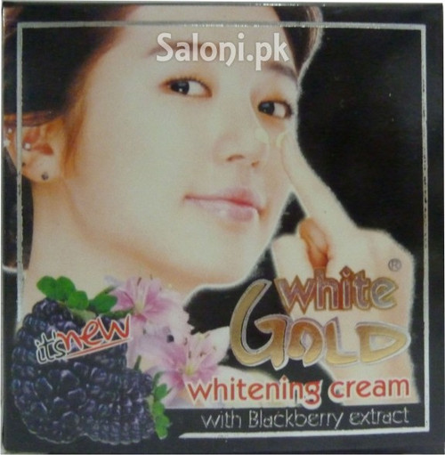 White Gold Whitening Cream With Blackberry Extract