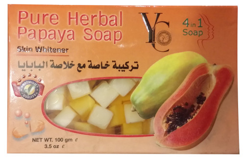 YC Pure Herbal Papaya Soap 100 Grams