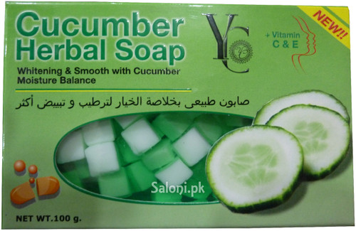 YC Cucumber Herbal Soap with Vitamin C & E